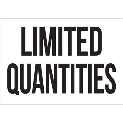 "7 x 10"" - ""Limited Quantities"" Vinyl Labels"