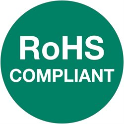 "1"" Circle - ""RoHS Compliant"" Green Labels"