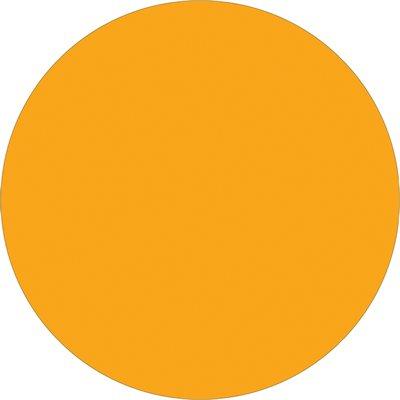 "1"" Circle - Fluorescent Orange Removable Labels"