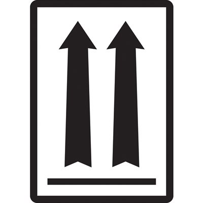 """3 x 4 1/4"""" - (two up arrows over black bar) Labels"""