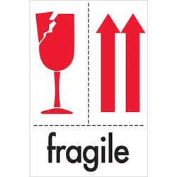 "4 x 6"" - ""Fragile"" Labels"