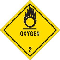 """4 x 4"""" - """"Oxygen - 2"""" Labels"""