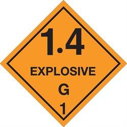 "4 x 4"" - ""1.4 - Explosive - G 1"" Labels"