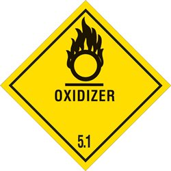 "4 x 4"" - ""Oxidizer - 5.1"" Labels"