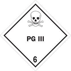 "4 x 4"" - ""PG III - 6"" Labels"