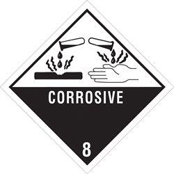 "4 x 4"" - ""Corrosive - 8"" Labels"