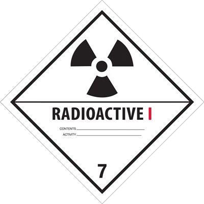 "4 x 4"" - ""Radioactive I"" Labels"