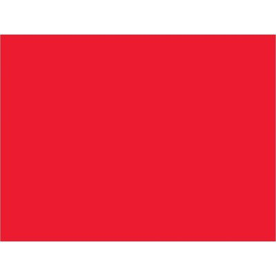 """3 x 4"""" Fluorescent Red Inventory Rectangle Labels"""