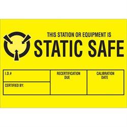 """1 3/4 x 2 1/2"""" - """"Static Safe"""" Labels"""