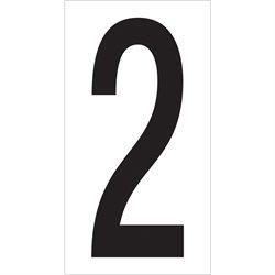 "3 1/2 ""2"" Vinyl Warehouse Number Labels"