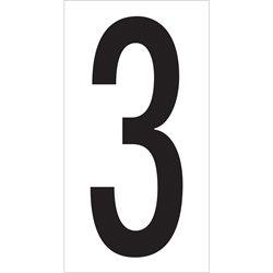 "3 1/2"" ""3"" Vinyl Warehouse Number Labels"