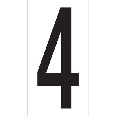 "3 1/2"" ""4"" Vinyl Warehouse Number Labels"