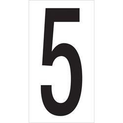 "3 1/2"" ""5"" Vinyl Warehouse Number Labels"