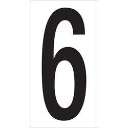 "3 1/2"" ""6"" Vinyl Warehouse Number Labels"