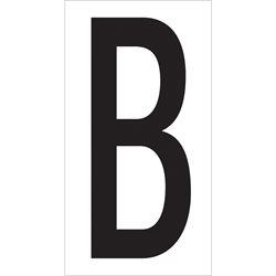 "3 1/2"" ""B"" Vinyl Warehouse Letter Labels"