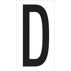 """3 1/2"""" """"D"""" Vinyl Warehouse Letter Labels"""
