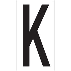 "3 1/2"" ""K"" Vinyl Warehouse Letter Labels"