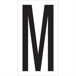 """3 1/2"""" """"M"""" Vinyl Warehouse Letter Labels"""