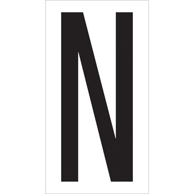 "3 1/2"" ""N"" Vinyl Warehouse Letter Labels"