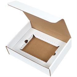 """11 1/8 x 8 3/4 x 3"""" White DVD Literature Mailer Kit"""