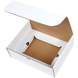"""11 1/8 x 8 3/4 x 4"""" White DVD Literature Mailer Kit"""