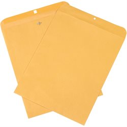 "12 x 15 1/2"" Kraft Clasp Envelopes"