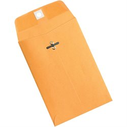"4 5/8 x 6 3/4"" Kraft Clasp Envelopes"