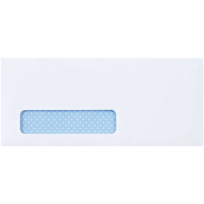 """4 1/8 x 9 1/2"""" - #10 Window Self-Seal Business Envelopes with Security Tint"""