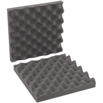 "10 x 10 x 2"" Charcoal Convoluted Foam Sets"