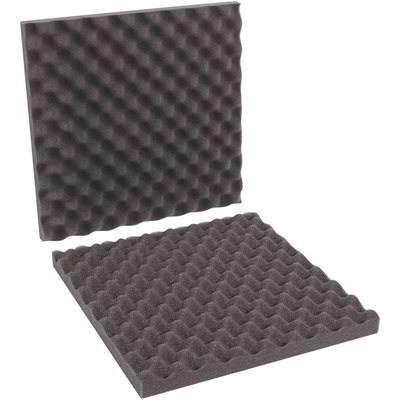"16 x 16 x 2"" Charcoal Convoluted Foam Sets"