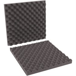 "16 x 16 x 2"" Charcoal Convoluted Foam Sets"