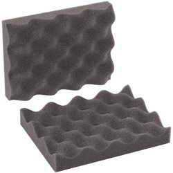 "8 x 6 x 2"" Charcoal Convoluted Foam Sets"