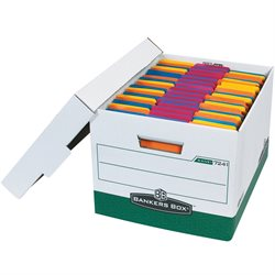 "15 x 12 x 10"" Green R-Kive® File Storage Boxes"