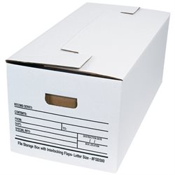"24 x 12 x 10"" Interlocking Flap File Storage Boxes"