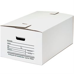 "24 x 15 x 10"" Interlocking Flap File Storage Boxes"