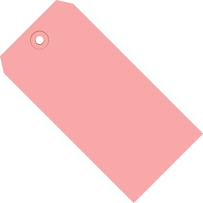 """4 3/4 x 2 3/8"""" Pink 13 Pt. Shipping Tags"""
