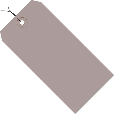 """5 1/4 x 2 5/8"""" Gray 13 Pt. Shipping Tags - Pre-Wired"""