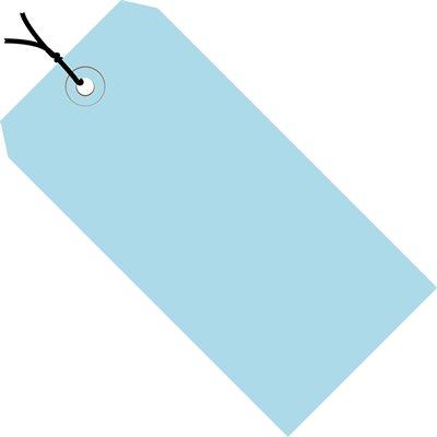 "8 x 4"" Light Blue 13 Pt. Shipping Tags - Pre-Strung"