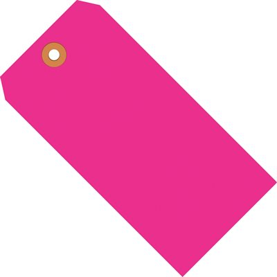 """6 1/4 x 3 1/8"""" Fluorescent Pink 13 Pt. Shipping Tags"""
