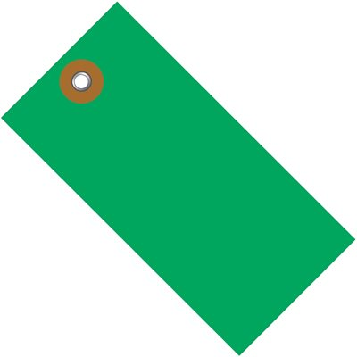 "2 3/4 x 1 3/8"" Green Tyvek® Shipping Tag"