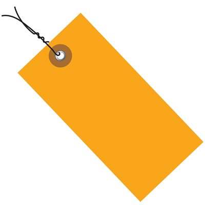 "3 1/4 x 1 5/8"" Orange Tyvek® Pre-Wired Shipping Tag"