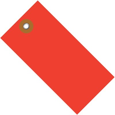 """5 1/4 x 2 5/8"""" Red Tyvek® Shipping Tag"""