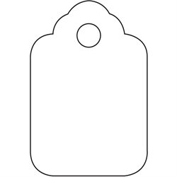 "1 3/4 x 2 7/8"" White Merchandise Tags"