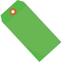 """4 3/4 x 2 3/8""""Green Self-Laminating Tags"""
