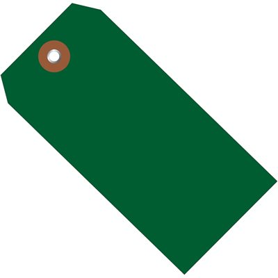 """4 3/4 x 2 3/8"""" Green Plastic Shipping Tags"""
