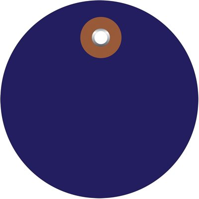 """3"""" Blue Plastic Circle Tags - Pre-Wired"""
