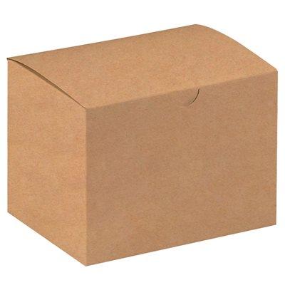 "6 x 4 1/2 x 4 1/2"" Kraft Gift Boxes"