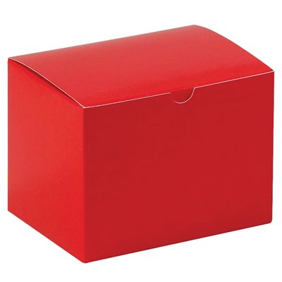 """6 x 4 1/2 x 4 1/2"""" Holiday Red Gift Boxes"""