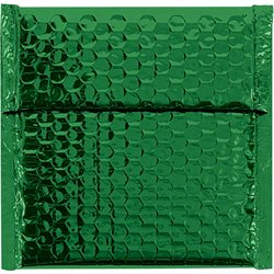 "7 x 6 3/4"" Green Glamour Bubble Mailers"