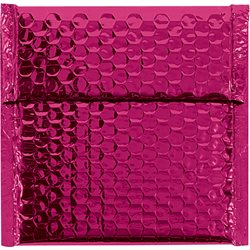 """7 x 6 3/4"""" Pink Glamour Bubble Mailers"""